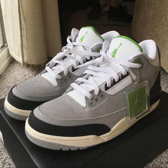 "release date 7af97 0804d Brand New Jordan Retro 3 ""Chlorophyll"" NWT"